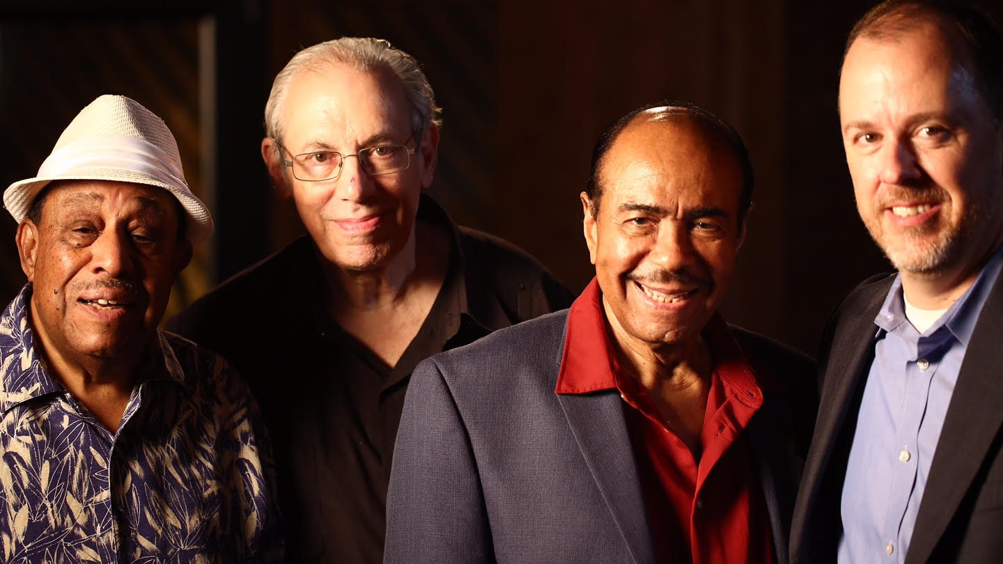 Lou Donaldson-Todd Barkan-Benny Golson-Kevin Struthers after Donaldson filming for Kennedy Center ArtsEdge Program